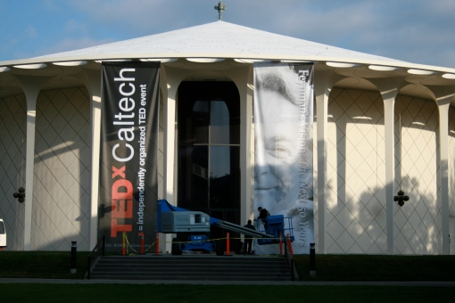 TEDxCaltech stage is being set